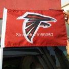 Atlanta Falcons car flag 12x18inches 30x45 cm double sided 100D Polyester