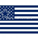 Dallas Cowboys USA flag with star and stripe 3x5 FT Banner 100D Polyester