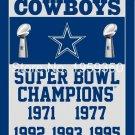 Dallas Cowboys Champions Flag 3ft x 5ft Polyester 90X150cm 2 metal grommets