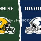 Green Bay Packers vs Dallas Cowboys House Divided Rivalry Flag 90x150cm
