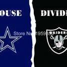 Dallas Cowboys vs Oakland Raiders House Divided Rivalry Flag 90x150cm