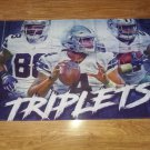 Dallas Cowboys triplets players flag 3ftx5ft Banner with metal Grommets