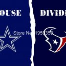 Dallas Cowboys vs Houston Texans House Divided Rivalry Flag 90x150cm