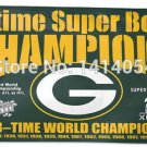 Green Bay Packers 4 Time Super Bowl Champions Flag 150X90CM Banner