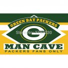 Green Bay Packers Fans Only Flag MAN CAVE Banner Flag 3x5 FT