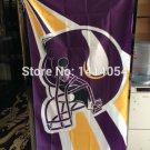 Minnesota Vikings Helmet Flag 150X90CM Banner 100D Polyester3x5 FT