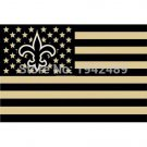 New Orleans Saints flag USA stripe star banner 100D 3X5FT free shipping