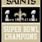 New Orleans Saints Super Bowl Champions Flag 150X90CM Banner 100D Polyester