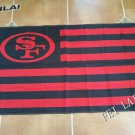 3ft x 5ft San Francisco 49ers flag with usa stripes banner 100D Digital Printing flag
