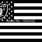 Los Angeles Oakland Raiders Flag polyester 3'x5' flag with usa flag 3x5 FT