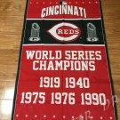 3X5FT  Cincinnati Reds Flag champion banner metal Grommets