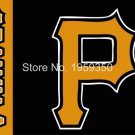 Pittsburgh Pirates logo Flag 3ft x 5ft Polyester fans flags 90x150cm metal grommets