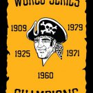 Pittsburgh Pirates Champions Flag 3X5FT Custom Pittsburgh Pirates Flag