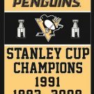 3X5FT Pittsburgh Penguin flag NHL StanleyCup Champions Banner