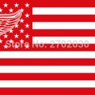 Detroit Red Wings Ice Hockey Sports Team Star and Stripe National Flag 3ft X 5ft