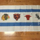 Chicago Blackhawks Chicago Bears Chicago Bulls Chicago White Sox Flag 3ft x 5ft