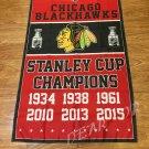 3X5FT Chicago Blackhawks flag NHL StanleyCup Champions Banner
