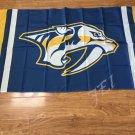 Nashville Predators custom flag 3ftx5ft polyester white sleeve with 2 Metal Grommets 3ft x 5ft