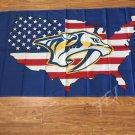 Nashville Predators NHL Hockey League flag US flag flying 3x5ft polyester