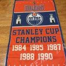 Edmonton Oilers champion Flag 3x5 FT 150X90CM Banner 100D Polyester flag