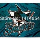 San Jose Sharks logo Flag 150X90CM NHL 3X5FT Banner 100D Polyester flag grommets 009