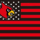 Louisville Cardinals Flag stars and stripes 3x5 ft two grommets