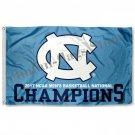 North Carolina Tar Heels Nationa 2017 Champs Double Sided Flag 3ftx5ft