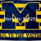 University of Michigan Wolverines Flag 3x5 FT 150X90CM Banner 100D Polyester