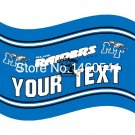 Middle Tennessee Blue Raiders YOUR TEXT Flag 3ft x 5ft Polyester