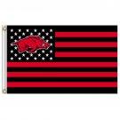 Arkansas Razorbacks flag with us stripes 3ftx5ft Banner 100D Polyester
