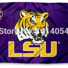 LSU Geaux Tigers Louisiana State University Flag 3' x 5' Fan Flag metal holes Flag