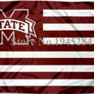 Mississippi State University Bulldogs with Stripes Flag Banner New 3x5ft