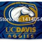 Cal Davis Aggies UC University Flag  3X5FT Banner 100D Polyester