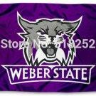 Weber State Wildcats Flag 3x5 FT 150X90CM  Banner 100D Polyester