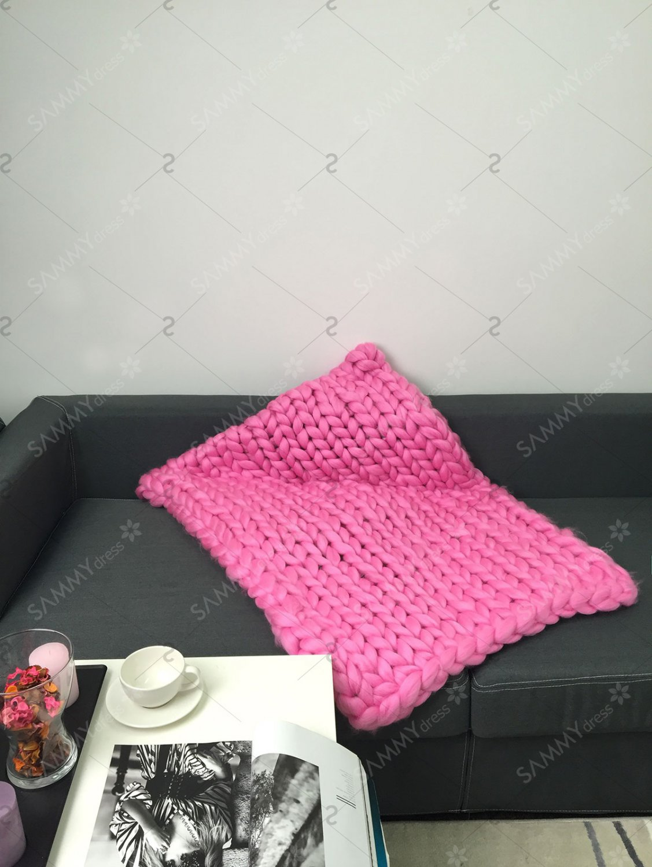 Handmade Crochet Jumbo-Braid Sofa Throw Blanket