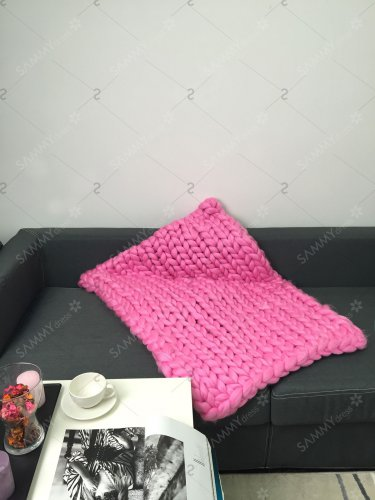 Handmade Crochet Jumbo-Braid Sofa Throw Blanket