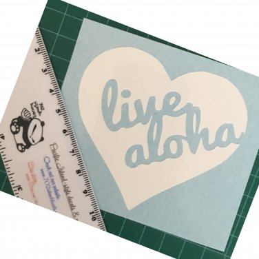 Live Aloha (Heart) vinyl decal - Available in all colors/sizes!  Hawaii / Hawaiian