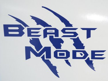 Beast Mode vinyl decal - Available in all sizes and colors!