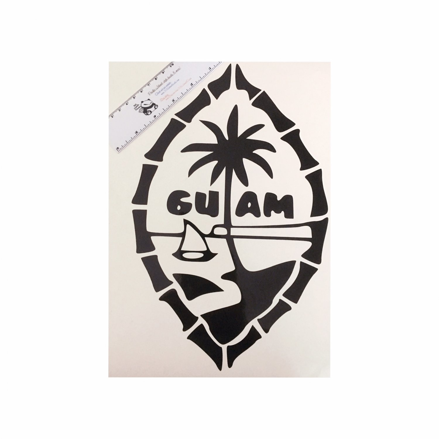 Guam Seal (Bamboo) vinyl decal - Available in all sizes / colors!  Chamorro