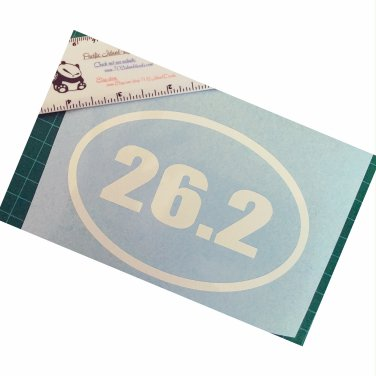 """26.2"" miles Marathon oval vinyl decal - Available in all sizes / colors!    Running"