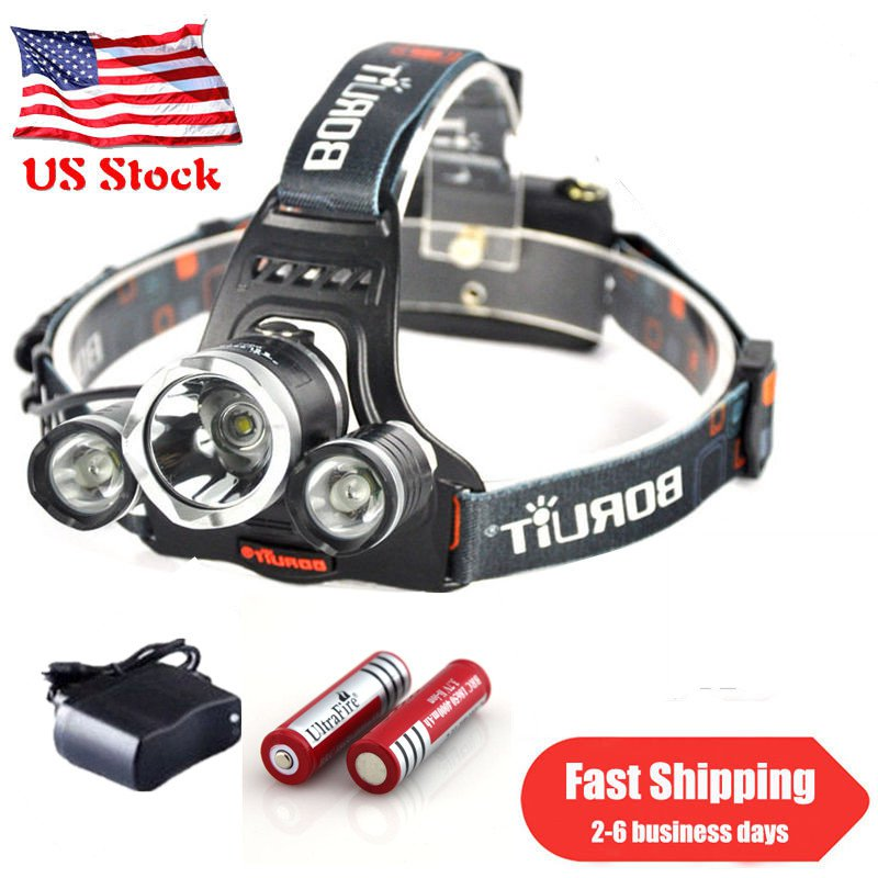 2PC 3000LM Led Flashlight Cree XM-L T6 Lumitak Rechargeable+Battery+Charge