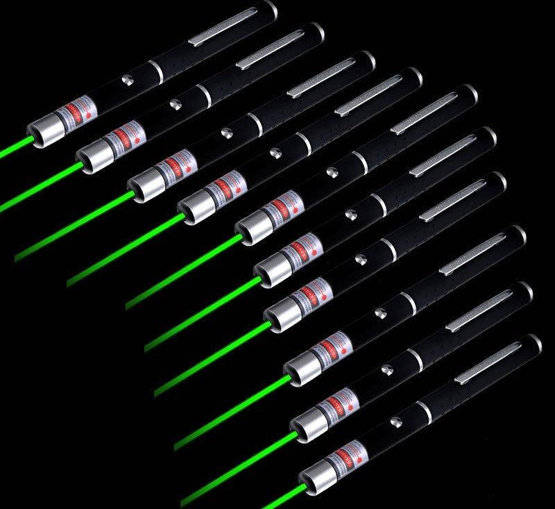 10PC Powerful 5mw 532nm Green Laser Pointer Pen High Power Laser Pen Pointer