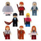 Harry Potter set of 8 minifigures Lego compatible, Dumbledore, Death Eater, Hermione, Ron