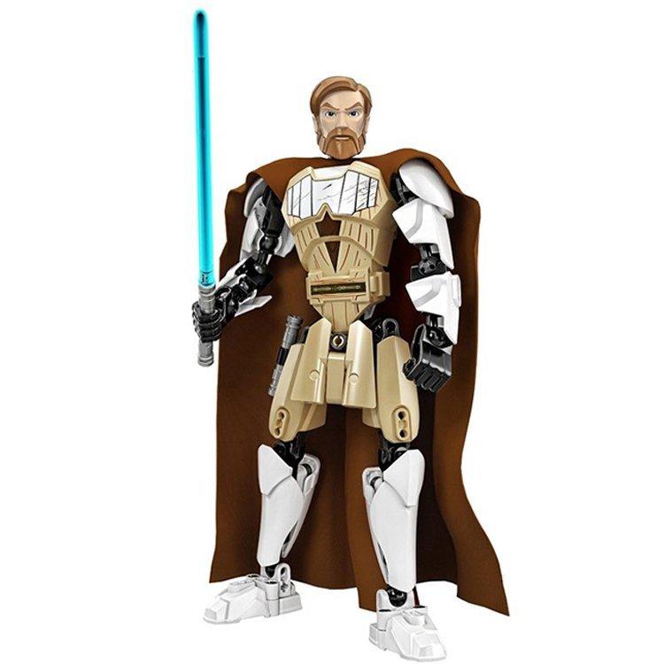 Star Wars Obi Wan Kenobi Jedi Warrior Light Saber Lego Compatible Figure