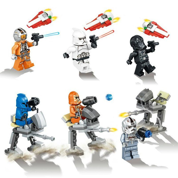 Star Wars Force Awakens Clone Stormtrooper AT-DP Lego Compatible Minifigures