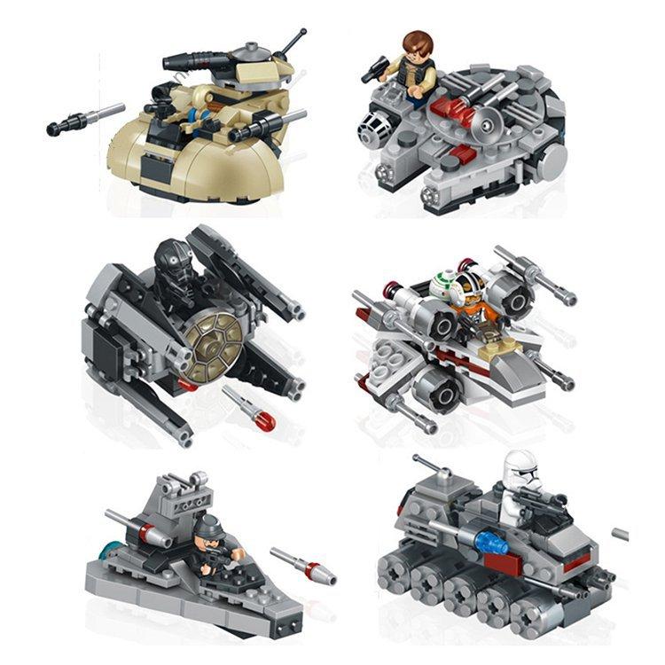 Lego Star Wars Compatible Mini Millennium Falcon Interceptor Destroyer Tank