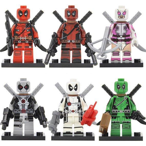 Deadpool minifigures Lego compatible, Wade Winston Wilson figure