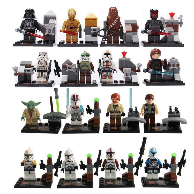 Lego Compatible Star Wars Jedi Darth Vader Yoda Luke Minifigures Birthday Gift