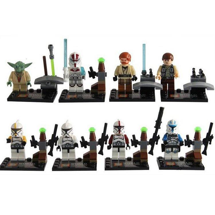 Lego Compatible Super Hero Star Wars Yoda Clone Trooper Minifigures