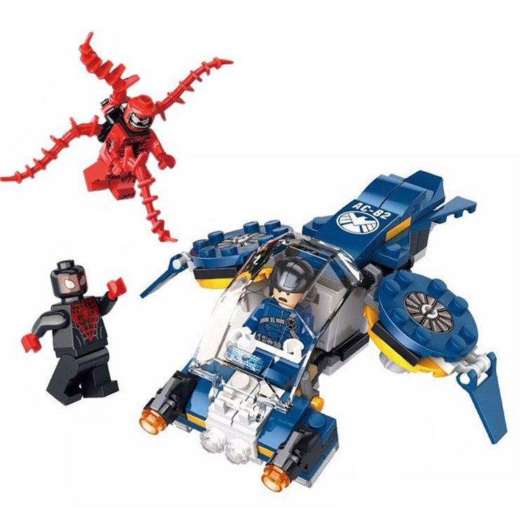 Iron Man Spiderman Carnage Shield Sky Attack Lego Compatible Minifigure